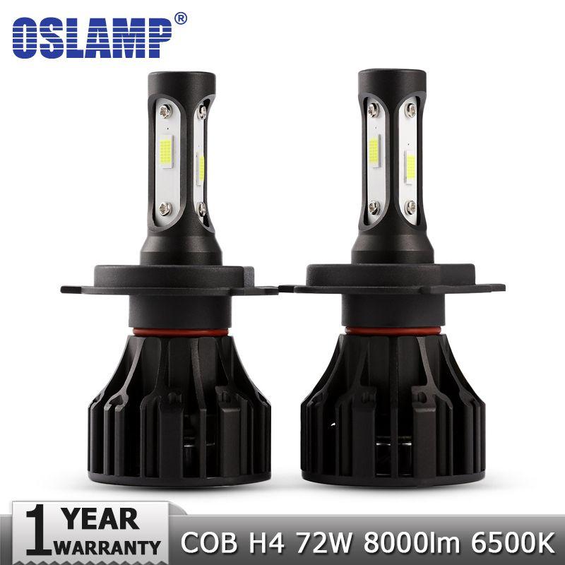 Oslamp H4 LED Headlight Bulbs COB Car Led Bulb Hi Lo 72W 8000lm Auto Headlamp Fog Light 12v 24v for Nissan Renault Golf Chery