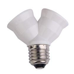 2 в 1 E27 Y Форма основание светильника противопожарные Материал Конвертор гнездо лампочки Splitter адаптер лампочки База держатель