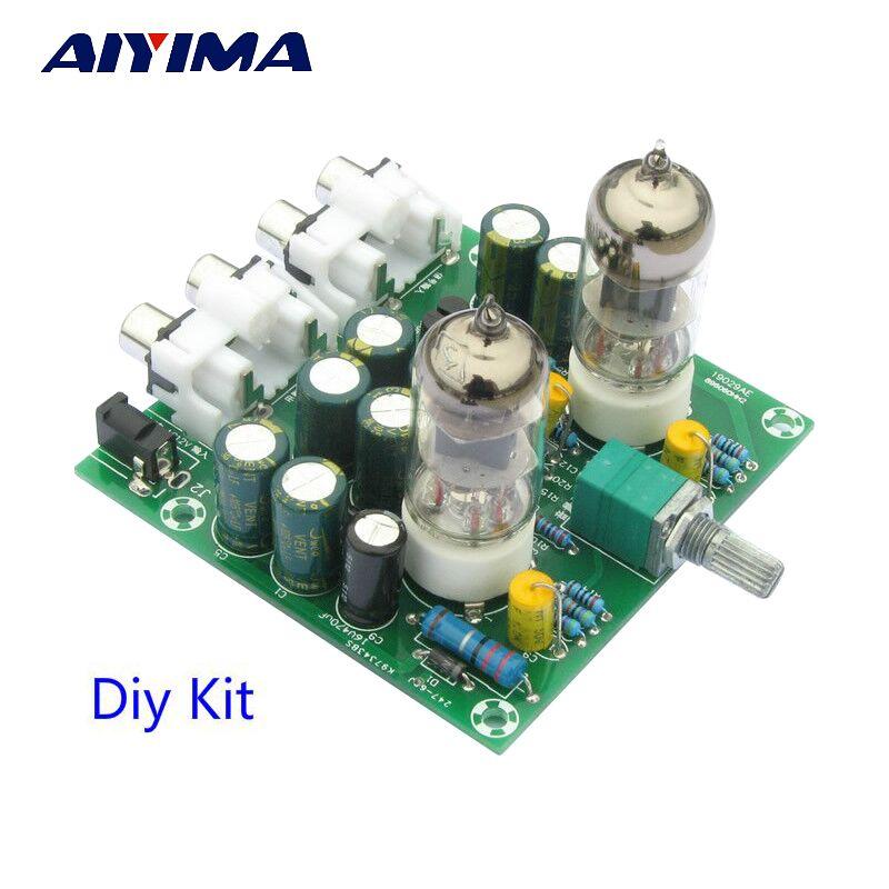Aiyima лихорадка 6J1 Tube Preamp усилителя доска pre-Amp усилитель для наушников 6J1 клапана предусилителя желчи буфера DIY комплекты