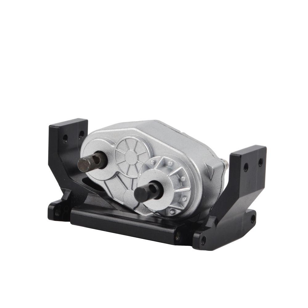 Boîtier de transfert de boîte de vitesses en métal RC avec support de montage 73mm pour voiture 1:10 RC SCX10 RC4WD Gelande II D90 D110 RC boîte de vitesses mobile sur chenilles