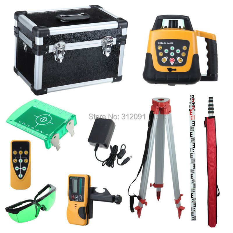 Ship From Germany! Brand New Self-leveling Rotary/ Rotating Green Laser Level + Tripod + staff