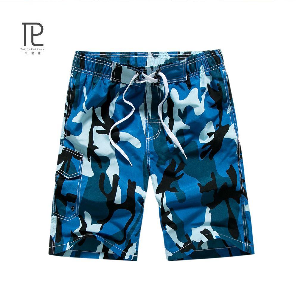 Nueva Marca Quick Dry Men Pantalones Cortos Cortos de la Playa Ocasional Homme Bermudas Verano de Los Hombres Flojos Pantalones Cortos de Camuflaje Para Hombre Corto Plus # B0