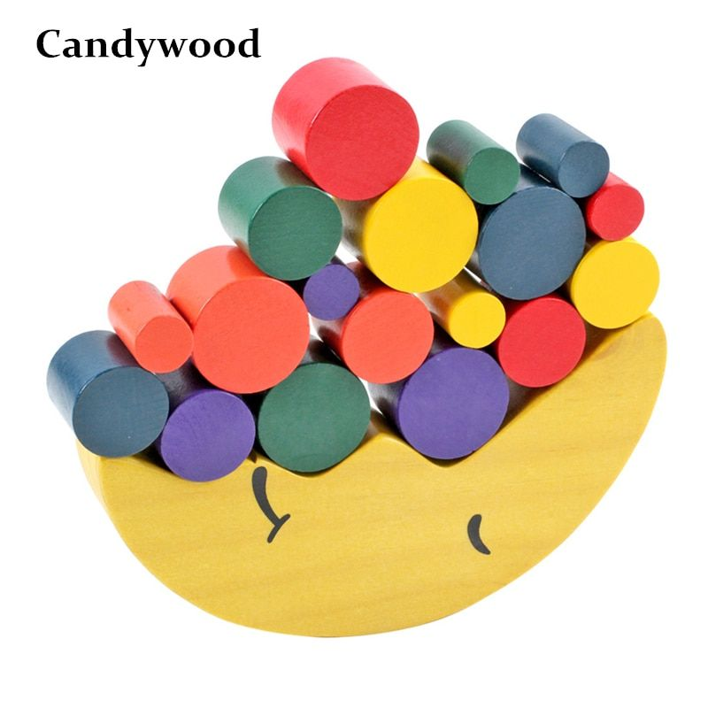 Kids Wooden Toys Moon Balancing Game Kids Educational Toys For Children Wooden Building Blocks Baby Children Balance Wooden Toys