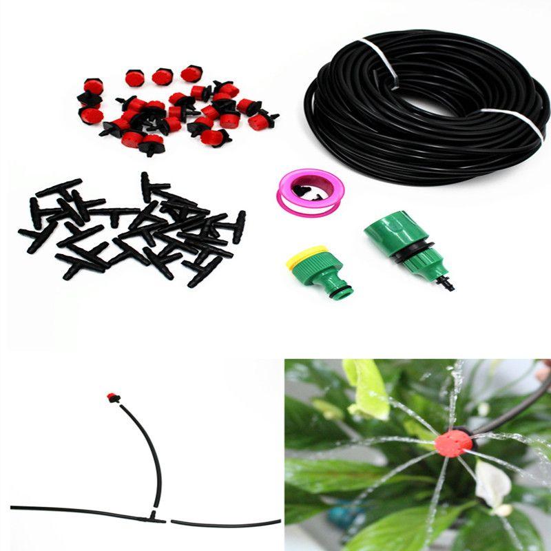25 m bricolage automatique Micro système d'irrigation goutte à goutte plante arrosage jardin tuyau Kits avec réglable Dripper contrôleur intelligent BH01