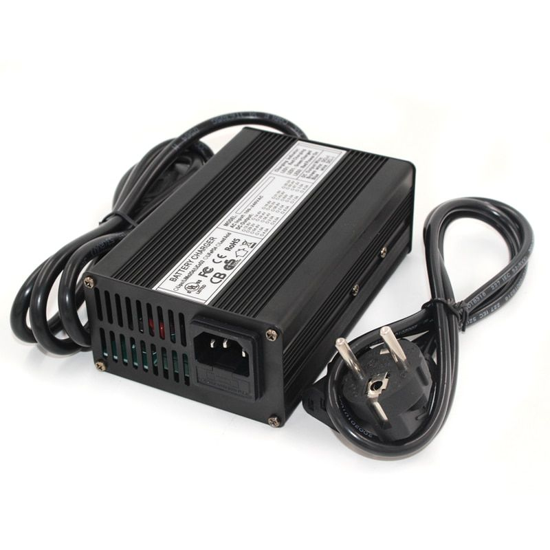 54.6V 3A Charger 13S 48V li-ion battery Charger Output DC 54.6V With cooling fan Free Shipping
