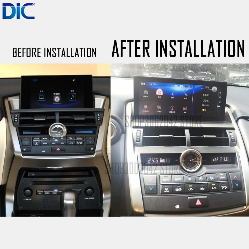 DLC Android system 10.25 inch Navigation player Video autoradio Steering-Wheel bluetooth USB For lexus 2014-2017 NX200 NX300