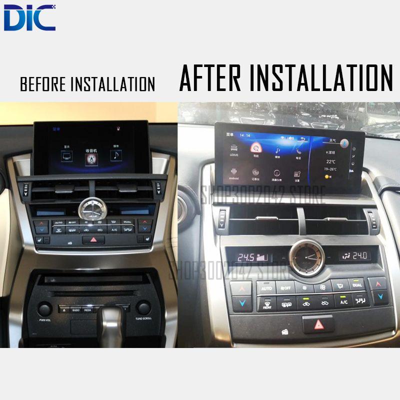 DLC Android system 10,25 zoll Navigation player Video autoradio Lenkung-Rad bluetooth USB Für lexus 2014-2017 NX200 NX300