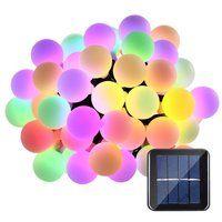 Solar globo 50 LED bola cadena luces energía Solar Patio luces Navidad luz iluminación para el hogar jardín césped fiesta decoraciones