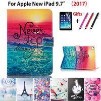 Модный чехол с принтом чехол для Apple, новый iPad 9,7 2017 2018 5th 6th поколения принципиально случаях A1822 A1954 Стенд Shell + стилус + пленка
