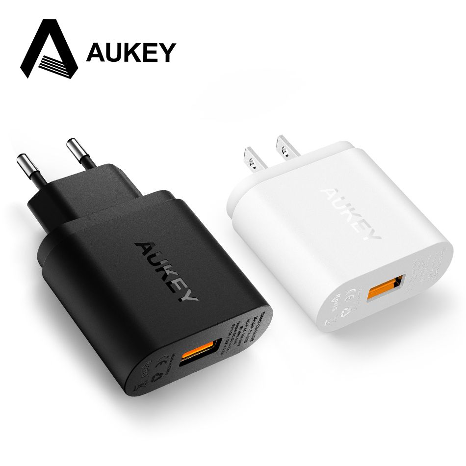 AUKEY Quick Charge 2.0 Mobile Phone Charger 18W USB Wall Charger Smart Fast Charging For iPhone iPad Samsung Galaxy Note Xiaomi