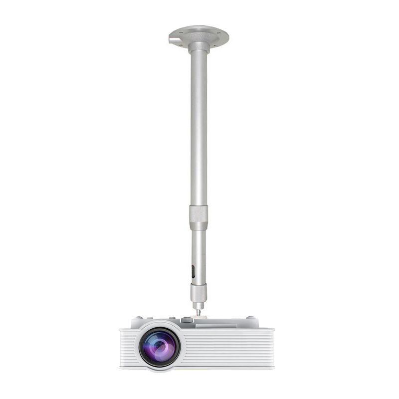 Алюминий сплав Мини светодиодный DLP проектор потолочный кронштейн 20 см до 40 см Регулируемый универсальный винт 6 мм Тип flex два раздела