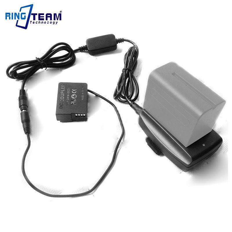 Alimentation externe DMW-DCC8 avec F970 Adaptateur pour Panasonic DMC-FZ1000 FZ200 FZ300 G7 G6 G5 GH2 GH2K GH2S G80 G85 GX8 Caméra