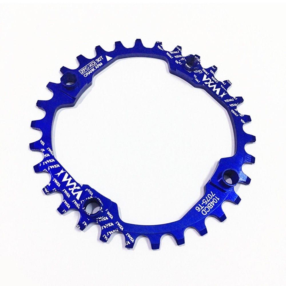 Vélo chaîne manivelle 30T 104BCD 30t cyclisme rond étroit large 7075-t6 vtt vélo chaîne cercle pédalier plaque pignon