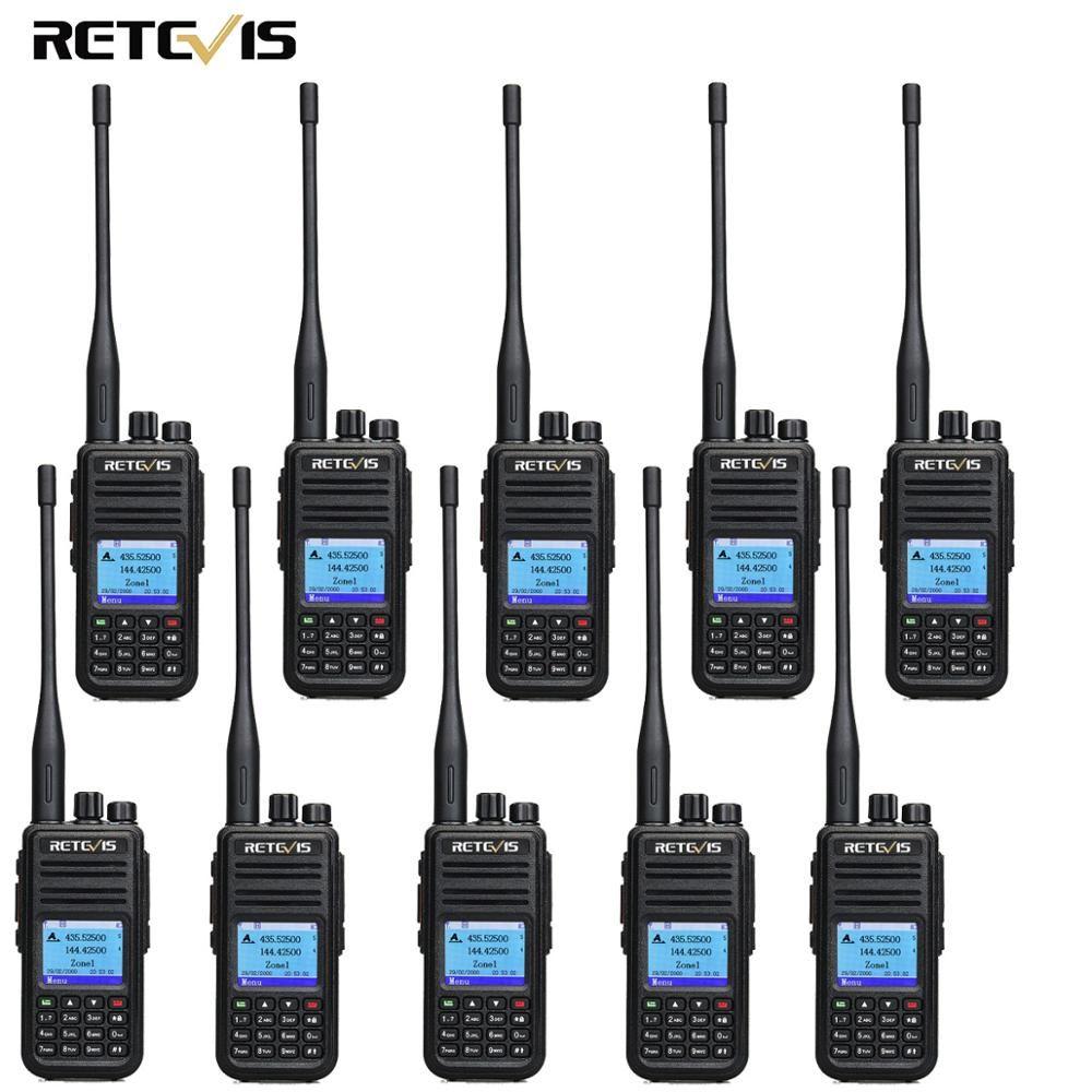 10 stücke Retevis RT3S Dual Band DMR Radio Digitale Walkie Talkie GPS DCDM TDMA Amateur Radio Hf Transceiver