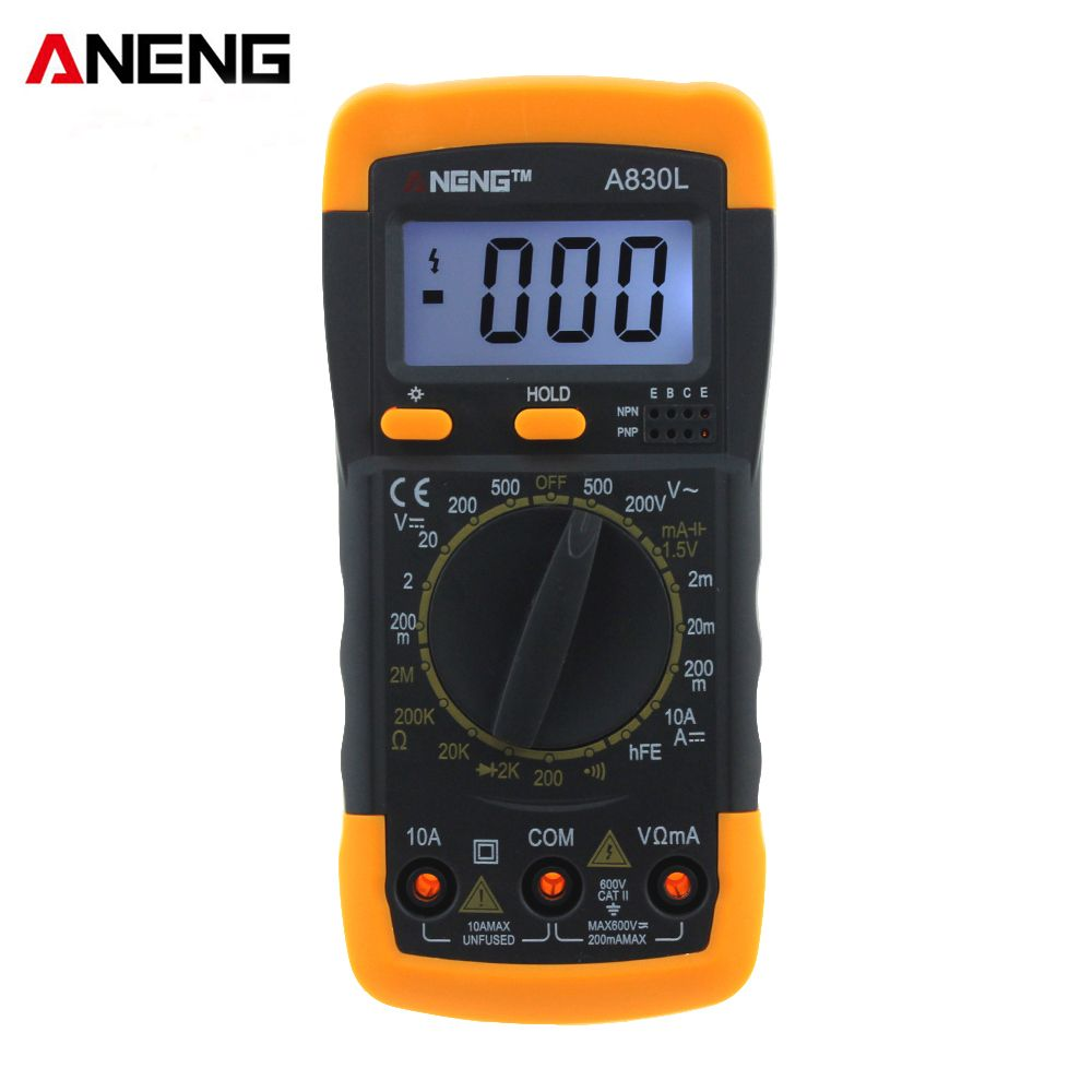 ANENG A830L digital multimeter LCD Digital Multimeter DC AC Voltage Diode Freguency Multitester