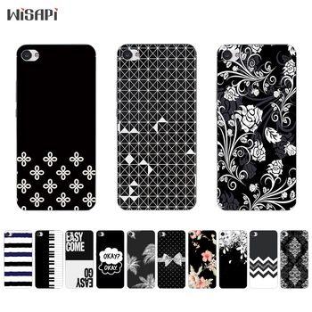 For Meizu M5 M5s Mini Phone Case for Meizu M3 MAX Shell Transparent for Meizu M3X M3 Mini TPU Back Cover Black & White Pattern