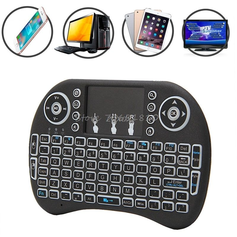 NEW Mini 2.4G 3 Color Backlit Wireless Touchpad Keyboard Air Mouse For PC Pad Android TV Box/X360/PS345 Z17 Drop ship