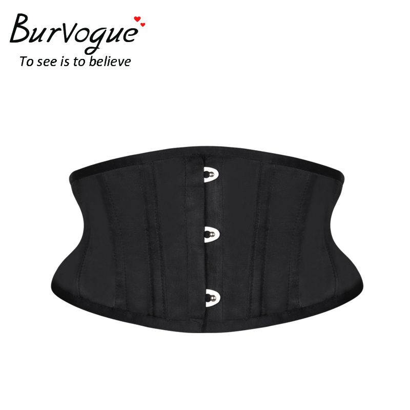 Burvogue Women Corset Underbust 26 Steel Boned Satin Corsets and Bustiers Plus Size Waist Trainer Control Belt for <font><b>Weight</b></font> Loss