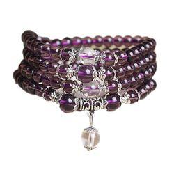 108 Perles Bracelet En Cristal Naturel Brésil Prière Perles Multi-couche Chapelet Mala Bracelet Livraison Gratuite