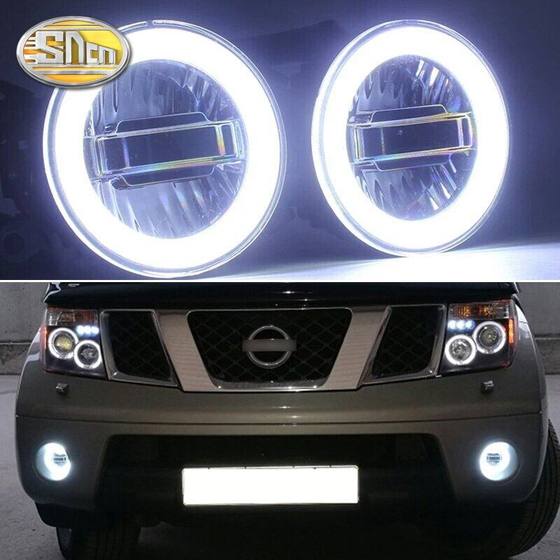 SNCN 3-IN-1 Functions Auto LED Angel Eyes Daytime Running Light Car Projector Fog Lamp For Nissan Pathfinder 2005 - 2014 2015