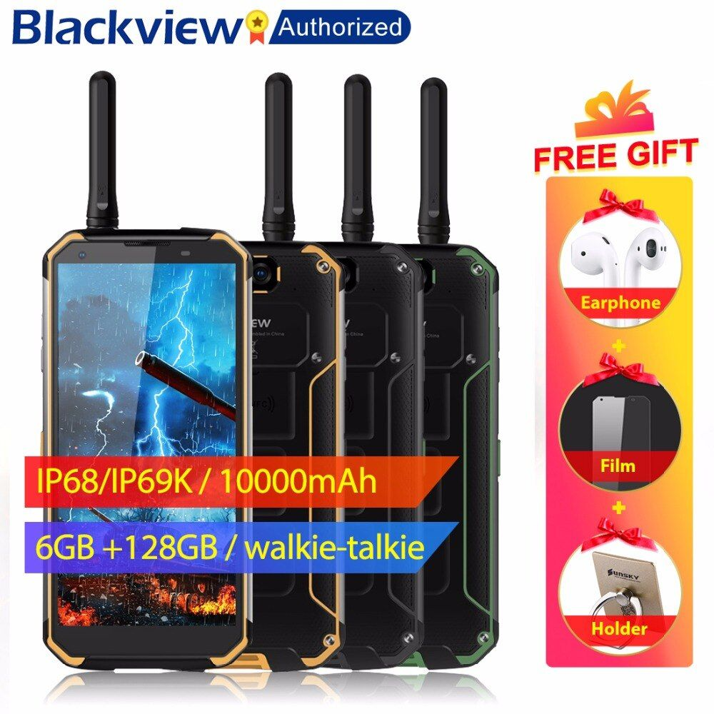 Blackview BV9500 Pro Mobile Phone Android 8.1 Octa Core 5.7 18:9 MTK6763T 6GB RAM 128GB ROM IP68 Waterproof Smartphone NFC OTG