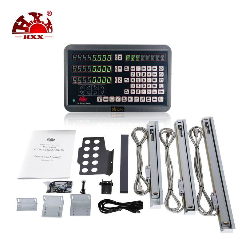 2018 hohe Präzision Drehmaschine 3 Achsen Digital Anzeige & TTL Lineare Skala DRO Kit Für Mühle Maschine EDM