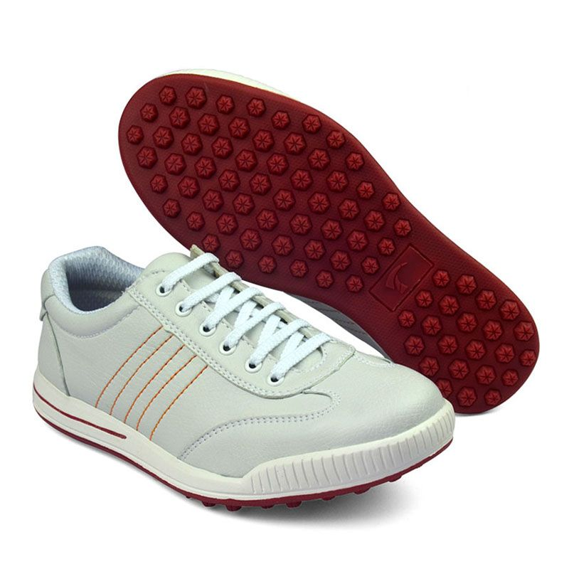 2016 PGM new womens men's genuine leather golf shoes without spikes ultra soft super breathable waterproof golf shoes