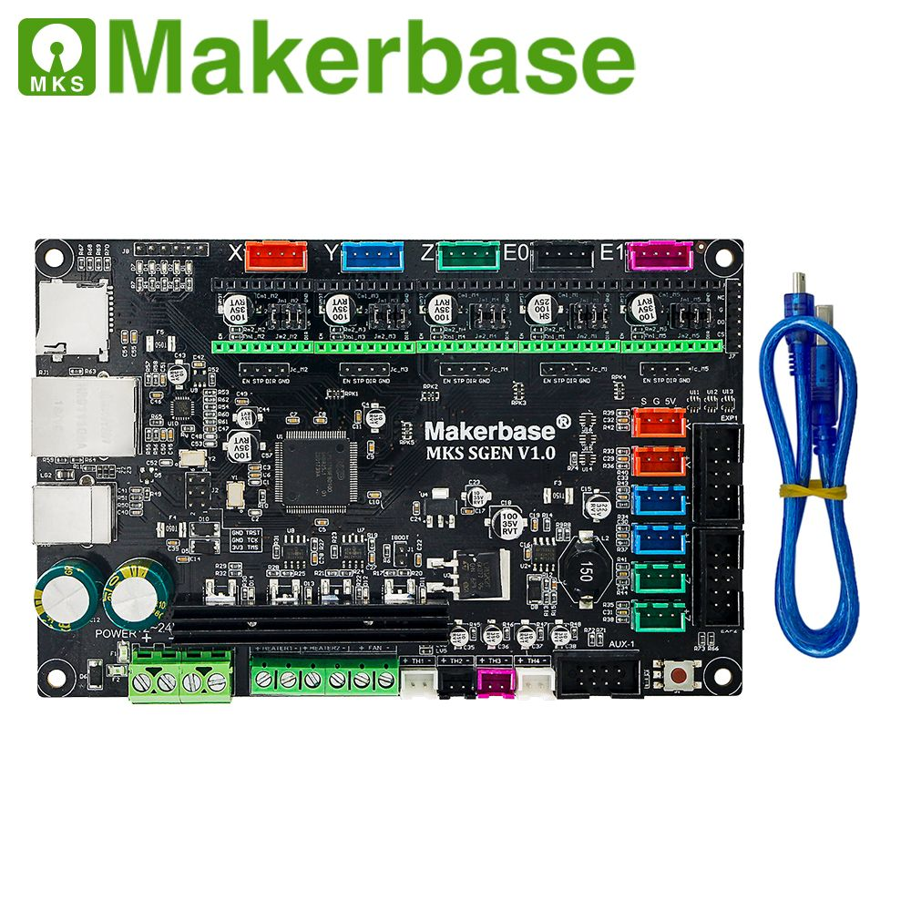 MKS SGen 32bit controller board which runs smoothieware firmware and supports A4988/DRV8825/LV8729/TMC2208/TMC2100 stepper drive