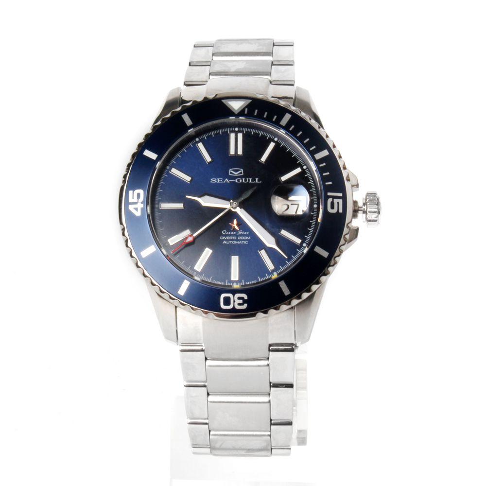 Seagull Ocean Star selbst-wind Automatic Mechanische 20Bar herren Tauchen Schwimmen Sport Uhr Blaues Zifferblatt 816,523