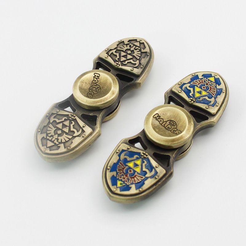The Legend of Zelda Shield Hand Spinner Metal Zinc alloy Finger Spinner Fidget Spiner Toys Anti Stress For Adult Children Gift