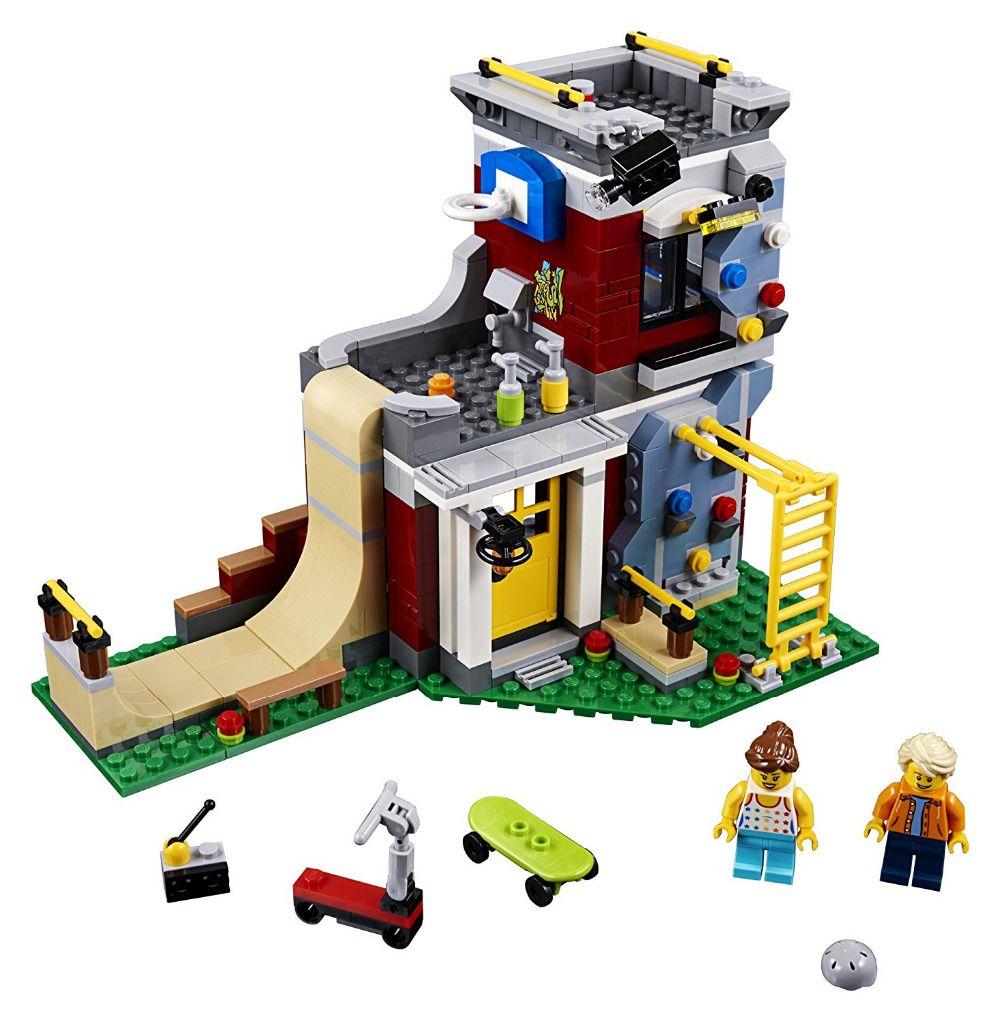 Creator Modular Skate House 3in1 Building Blocks Kits Bricks Kids Classic Model Toys For Children City Compatible Legoe