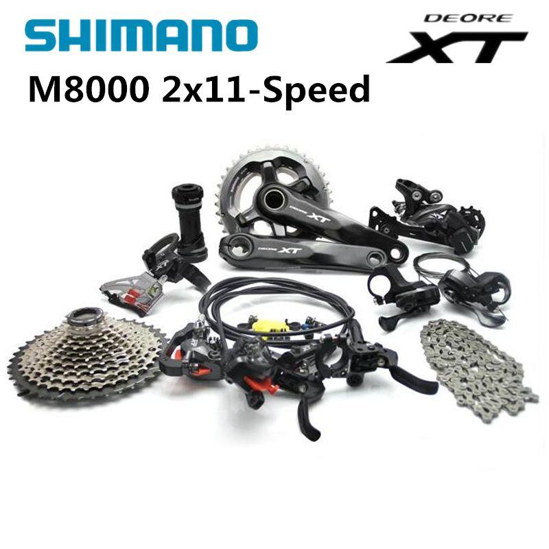 Shimano DEORE XT M8000 2x11 22S Speed MTB Mountain Bike Groupset 38/28T 36/26T 170mm 11-42T