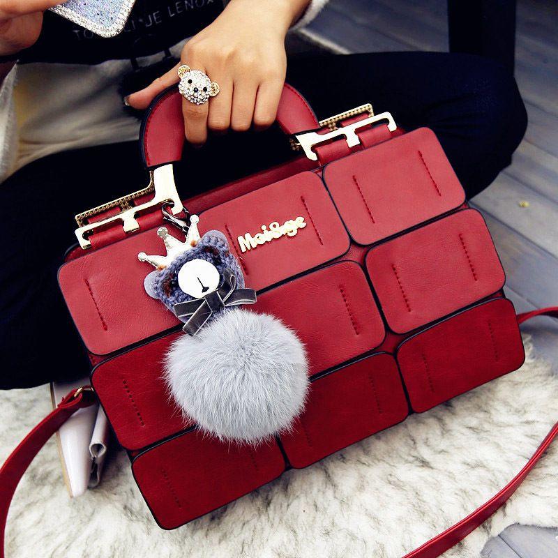 Aliwood Famous Brand Women's Handbags Leather Messenger Bags Luxury Top-Handle Bags Females Tote Crossbody Bags Bolsas Feminina