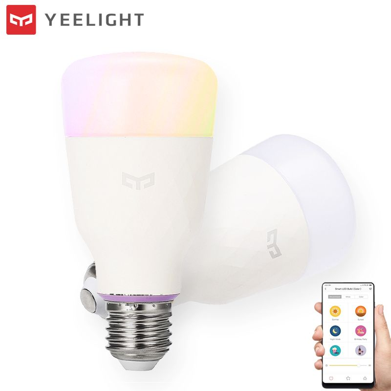 Original XIAOMI YEELIGHT RGBW Smart LED Bulb 10W Wireless WIFI Control LED Light Bulb AC100-240V E26/27 Multiple Colors Lighting