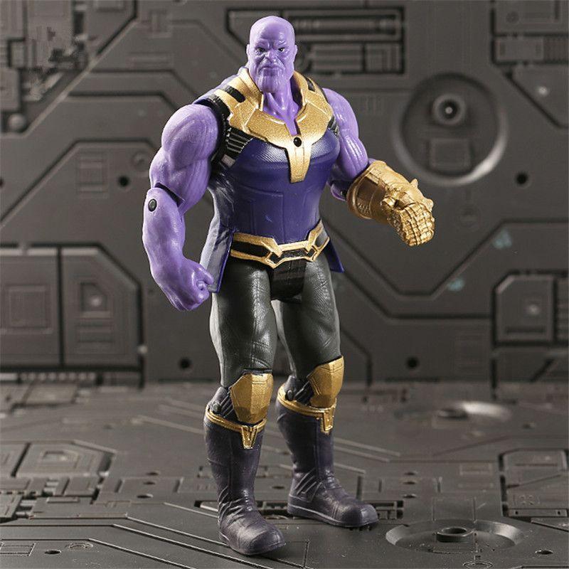 Super Héros Avengers 3 Infinity Guerre Articulations Mobiles Thanos Noir panthère Figurines Enfants Jouets Cadeaux pour Garçon 17 cm
