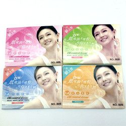 2 Pack=100 Sheets Tissue Papers Pro Powerful Makeup Cleaning Oil Absorbing Face Paper Absorb Blotting Facial Cleaner Face Tools