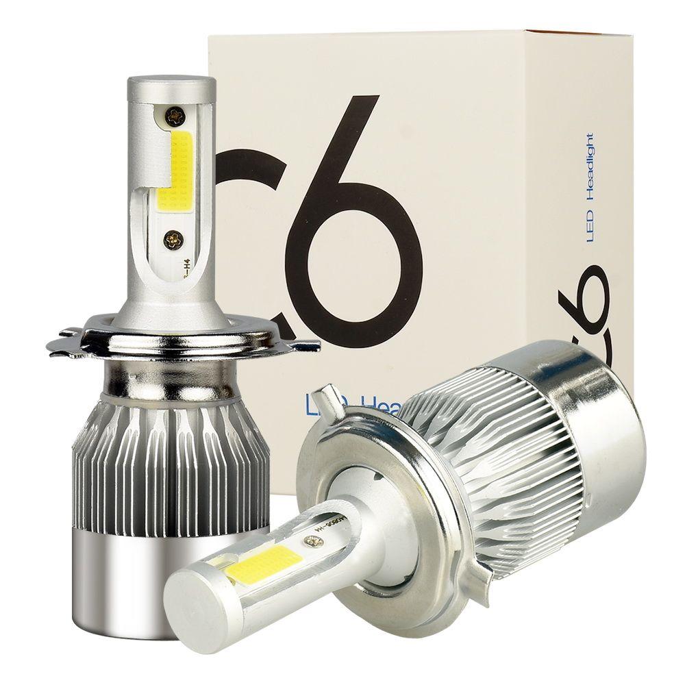 SATTVAM 2Pcs H4 LED H7 H11 H1 9004 <font><b>9005</b></font> 9006 9007 HB1 HB2 HB3 HB4 HB5 H3 H13 880 Car Headlight Bulbs 72W 7600LM 6000K Auto lamp