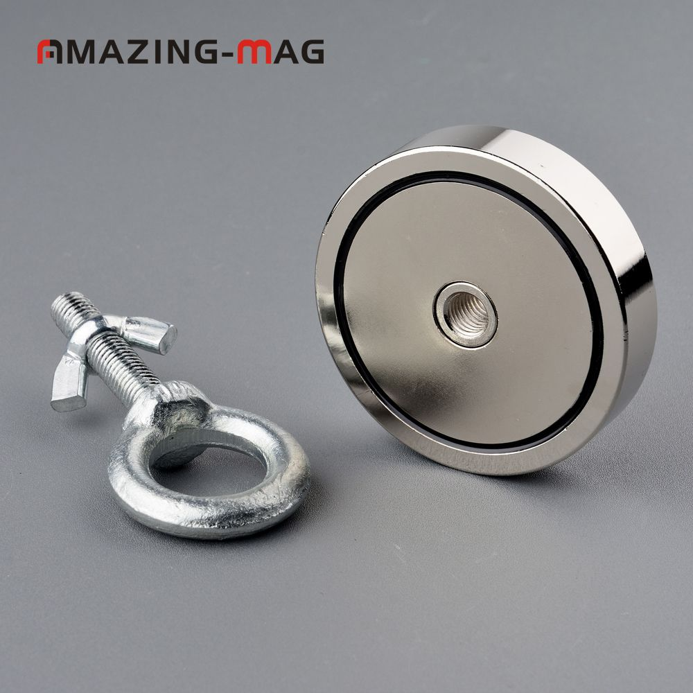 1PC 300KG Vertical Pull-force Neodymium Fishing Salvage Recovery Retrieving Magnet D74*16mm Holding Fixture Magnetic Mount Base