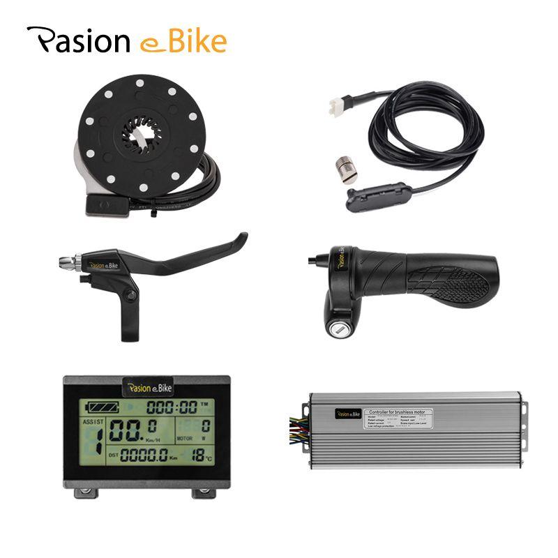 PASION E BIKE Komponenten 48 V 1500 W Elektrische Fahrrad Komponenten für 1500 W 45A Controller LCD Display Twist Drossel bremse PAS
