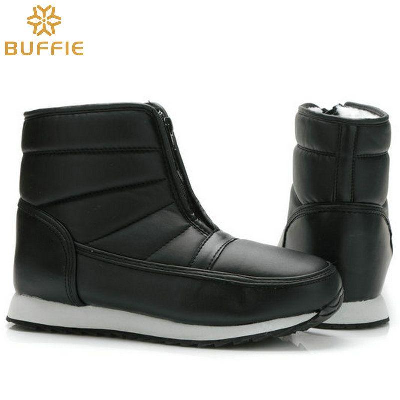 Мужские зимние ботинки больших размеров короткий стиль зимние сапоги теплый мех водонепроницаемый верх противоскользящей подошвой отец д...