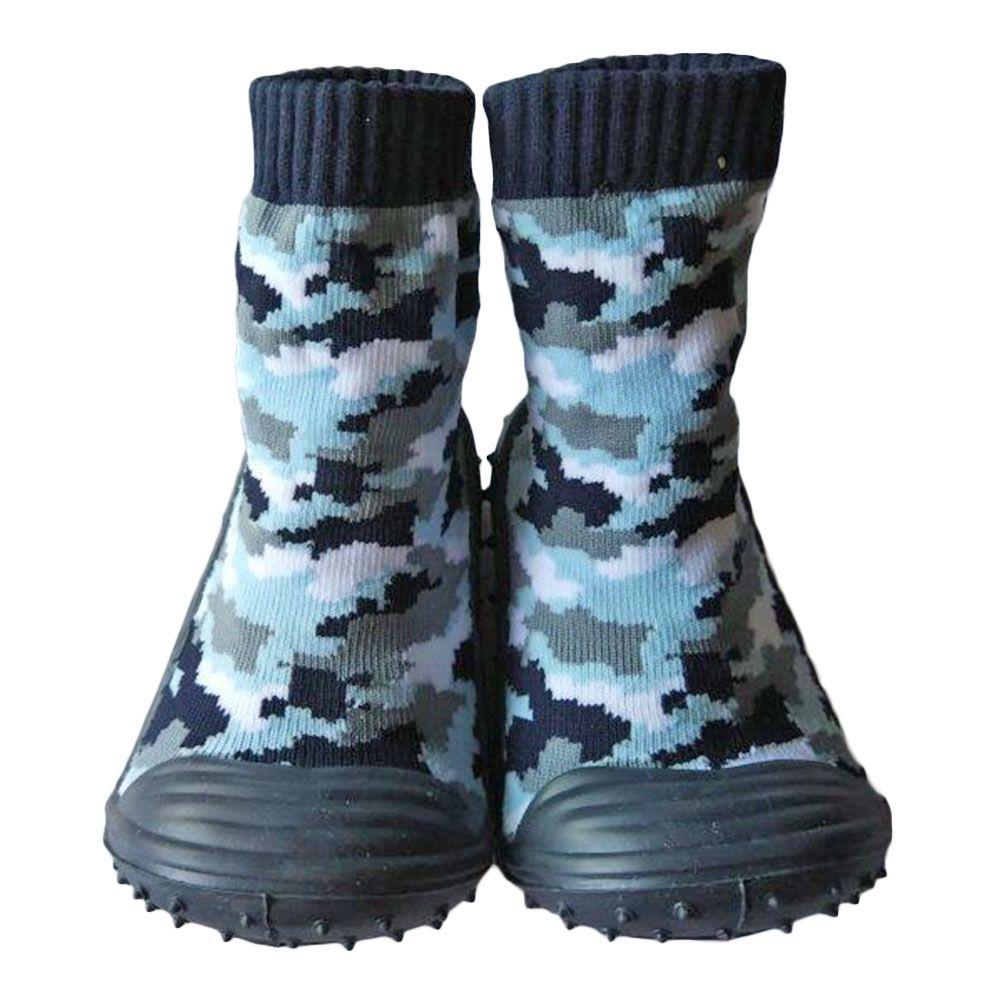 KiDaDndy Bebé antideslizante Calcetín Zapatillas Botas Zapatos Niños de Dibujos Animados Niño Calcetín de Algodón Primer Caminante YD588LL