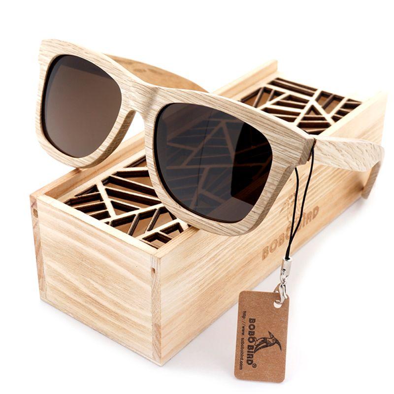 BOBO BIRD Men Women Wood Wooden Sunglasses New Fashion Handmade Cute Design gafas de sol steampunk Cool Sun Glasses BS04