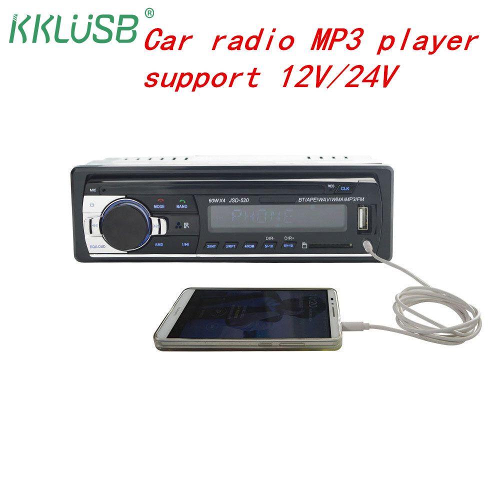 Autoradio Bluetooth De Voiture radio JSD-520 Stéréo Audio Lecteur FM/Aux Entrée/SD/USB MP3 enregistreur oto teypler auto autoradio 1 din