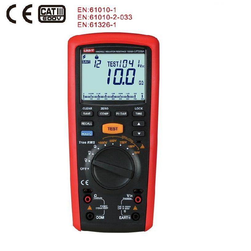 1000V Digital Handheld True RMS Megger Insulation Resistance Meter Tester Multimeter Ohm Voltmeter UNI-T UT505A Megohmmeter