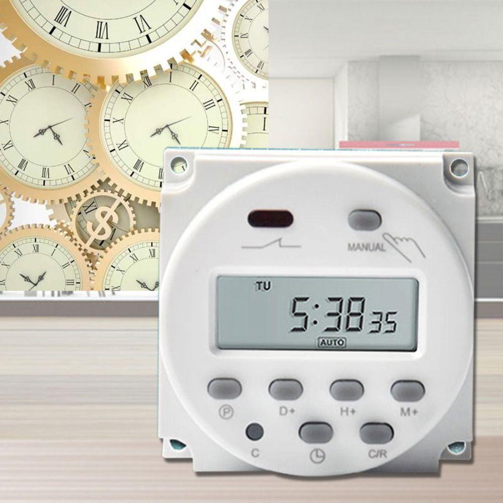 De haute Qualité Dans Le Monde Entier LCD de Puissance Numérique Programmable Minuterie AC 7.5VA Temps Relais Commutateur