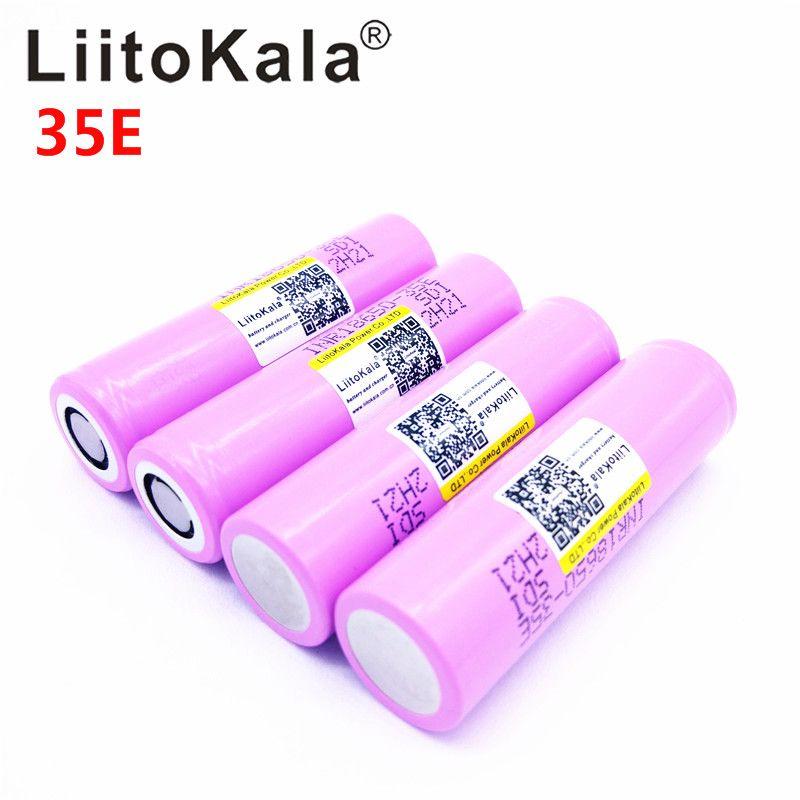 Liitokala Pour 18650 3500 mah 13A décharge INR18650 35E INR18650-35E 18650 batterie Li-ion 3.7 v rechargeable Batterie
