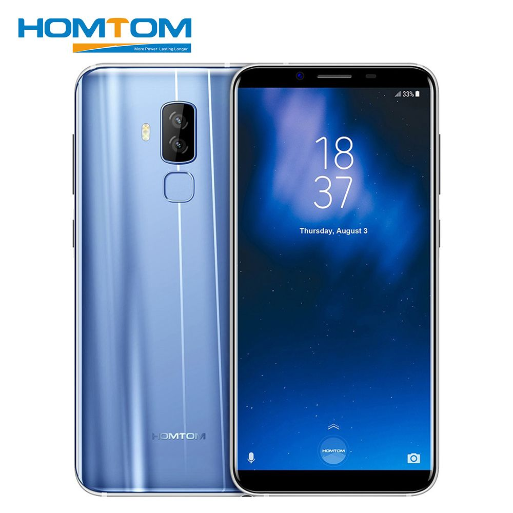 HOMTOM S8 5.7 inch 4G Android 7.0 Smartphone MTK6750T Octa Core 4GB RAM 64GB ROM 16MP+5MP Dual Back Camera HD OTA OTG Cell Phone