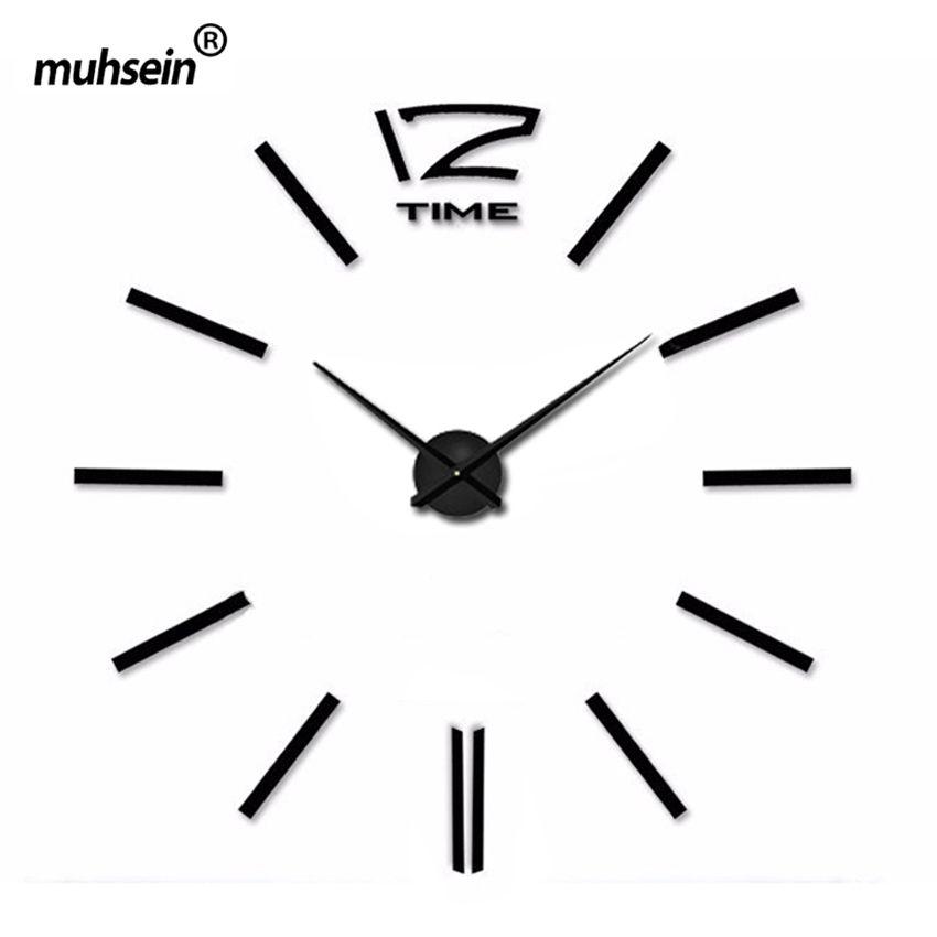 Новинка 2017 самоклеющиеся настенные часы круговой relojde сравнению украшения дома акриловые стикер Гостиная иглы абстрактный часы