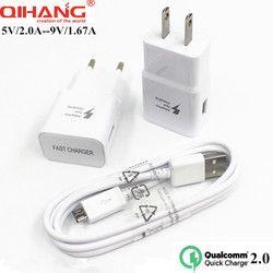 QIHANG Chargeur Rapide Pour Samsung galaxy S6 Rapide Chargeur 5 V/2A 9 V/1.67A Charge rapide 2.0 US Plug UE Pour Samsung Huawei LG XIAOMI