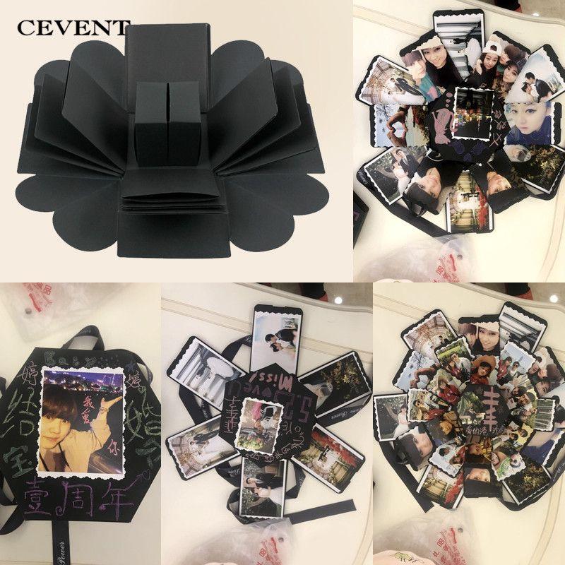 CEVENT 1 pc Surprise cadeaux boîte manuel amoureux bricolage Photos saint valentin mariage Romance créatif anniversaire fête Surprise cadeau